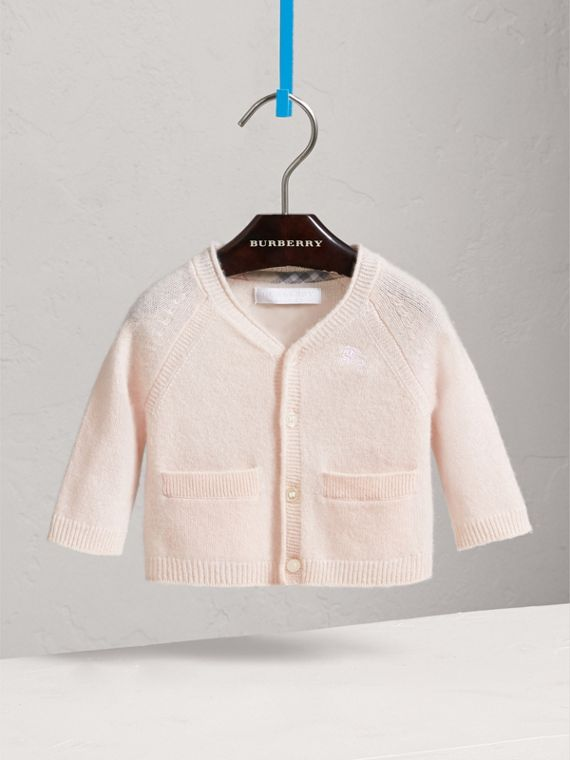Classic Cashmere Cardigan in Powder Pink | Burberry - cell image 2