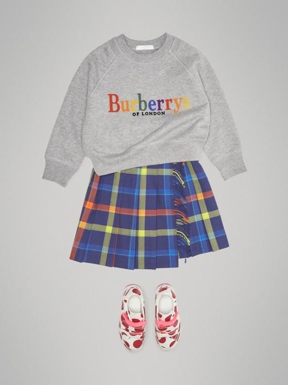 Sweatshirt aus Baumwolljersey mit Vintage-Logo (Grau Meliert)