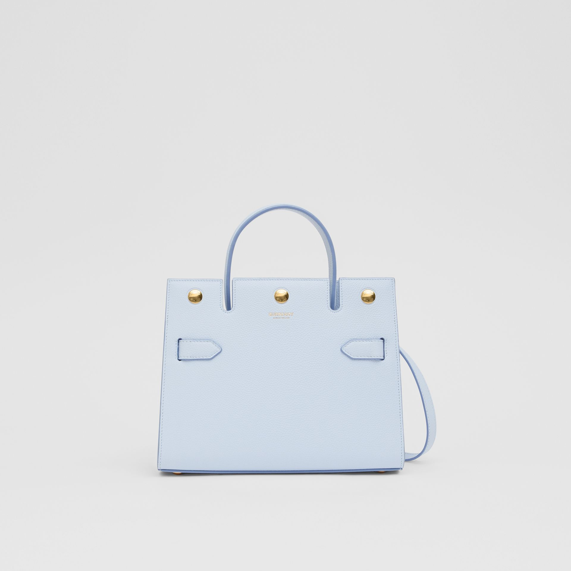 Mini Leather Title Bag in Pale Blue   Burberry United Kingdom - gallery image 0