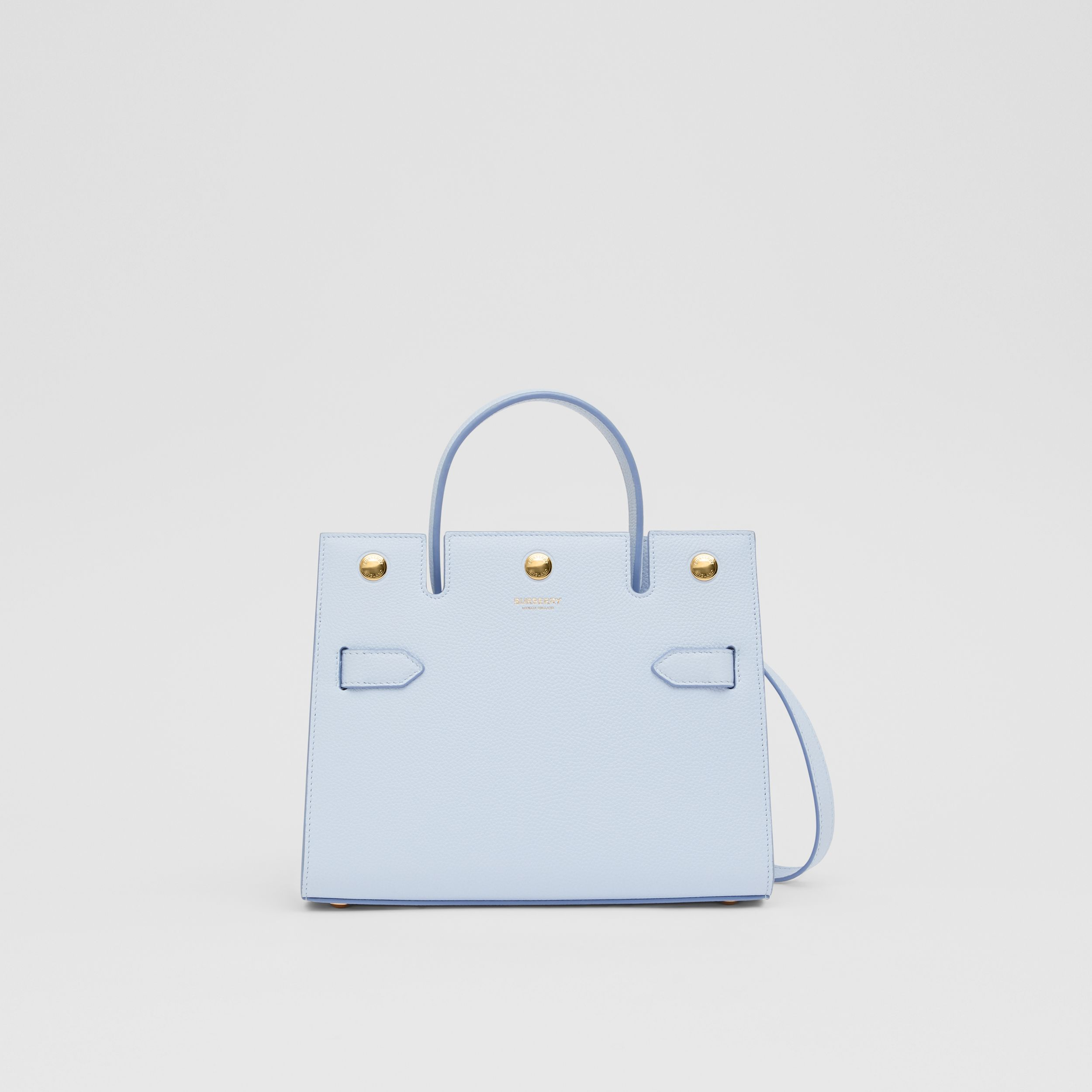 Mini Leather Title Bag in Pale Blue - Women | Burberry - 1