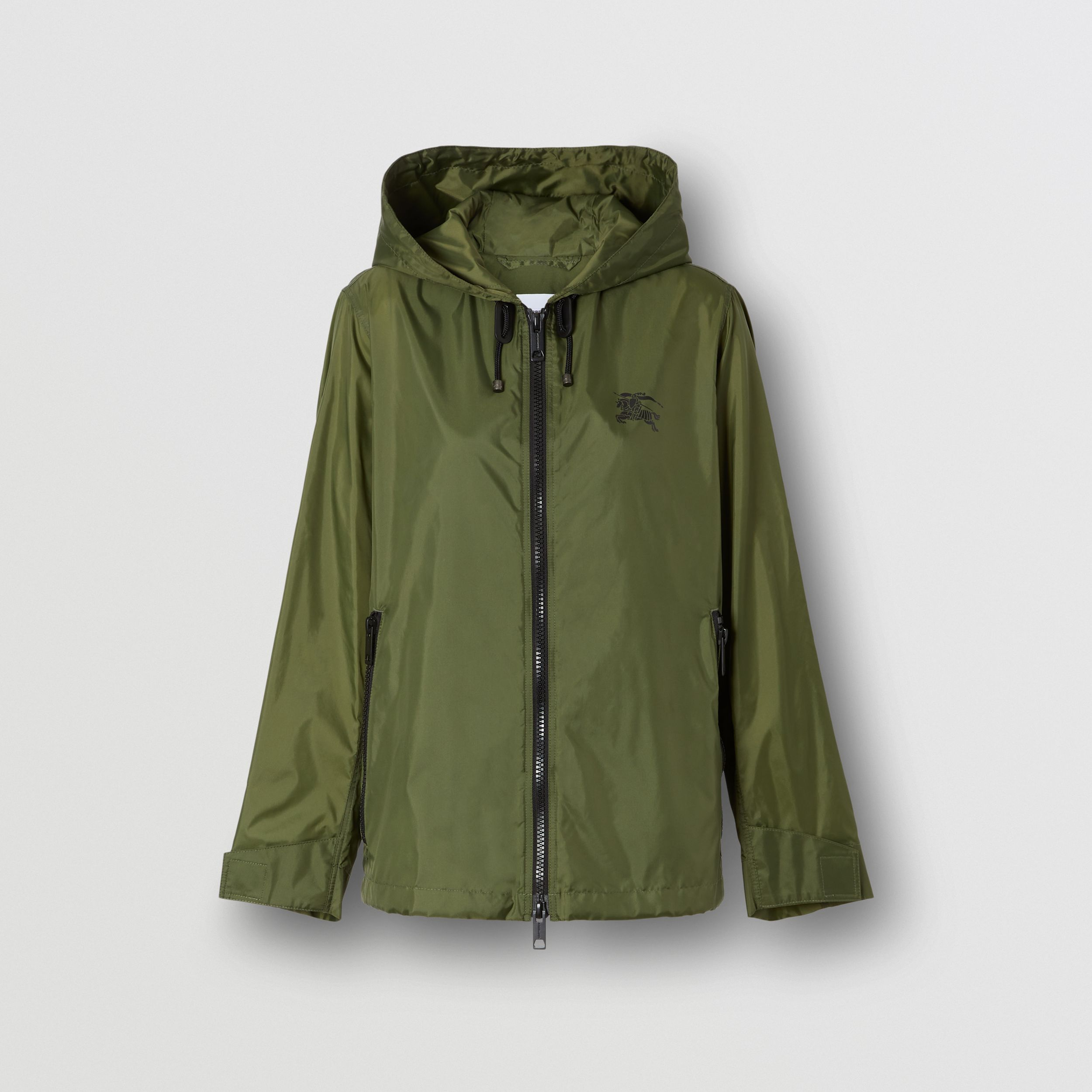 Equestrian Knight Device Nylon Hooded Jacket in Light Olive | Burberry - 1