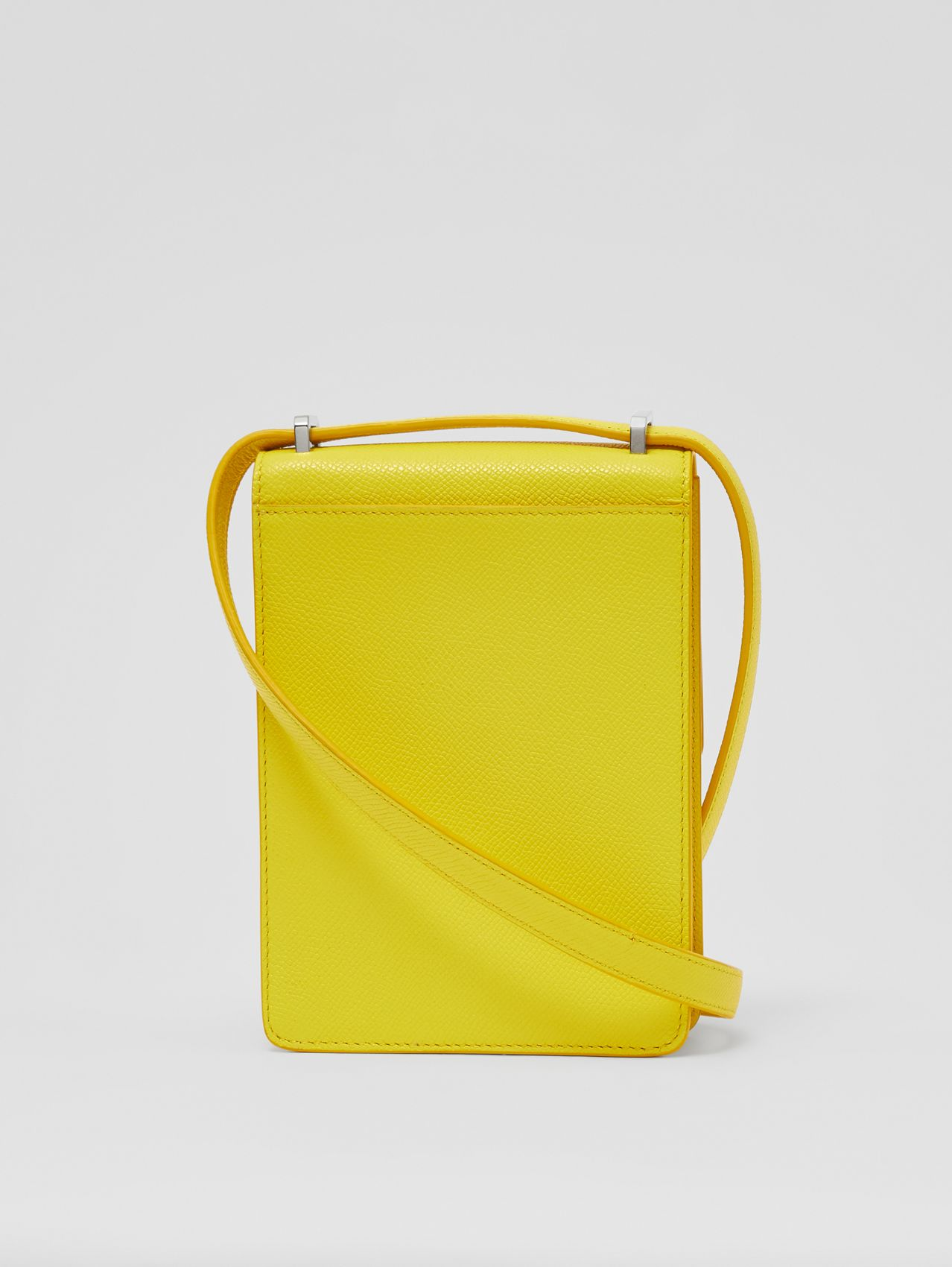 Grainy Leather Robin Bag in Marigold Yellow