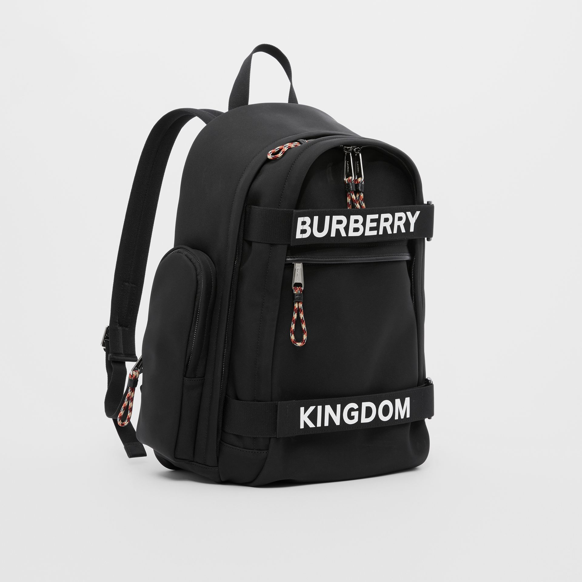 Large Logo and Kingdom Detail Nevis Backpack in Black/white | Burberry Hong Kong S.A.R - gallery image 8