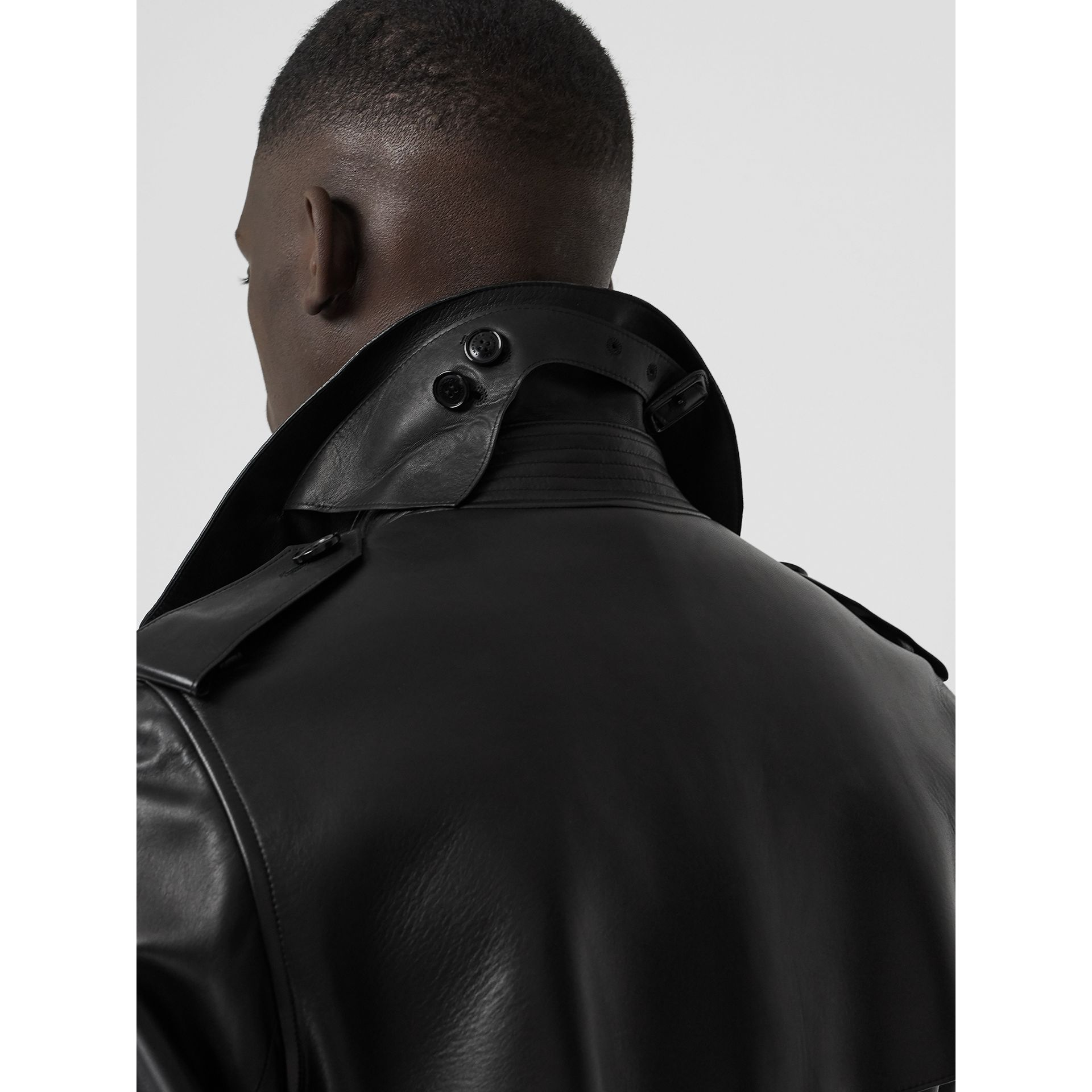 Lambskin Trench Coat in Black - Men | Burberry Hong Kong - gallery image 1