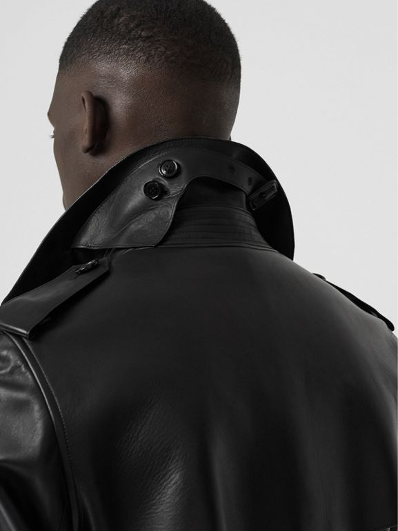 Lambskin Trench Coat in Black - Men | Burberry United Kingdom - cell image 1