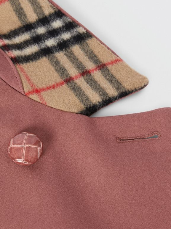 Melton Wool Tailored Pea Coat in Heather Pink | Burberry - cell image 1