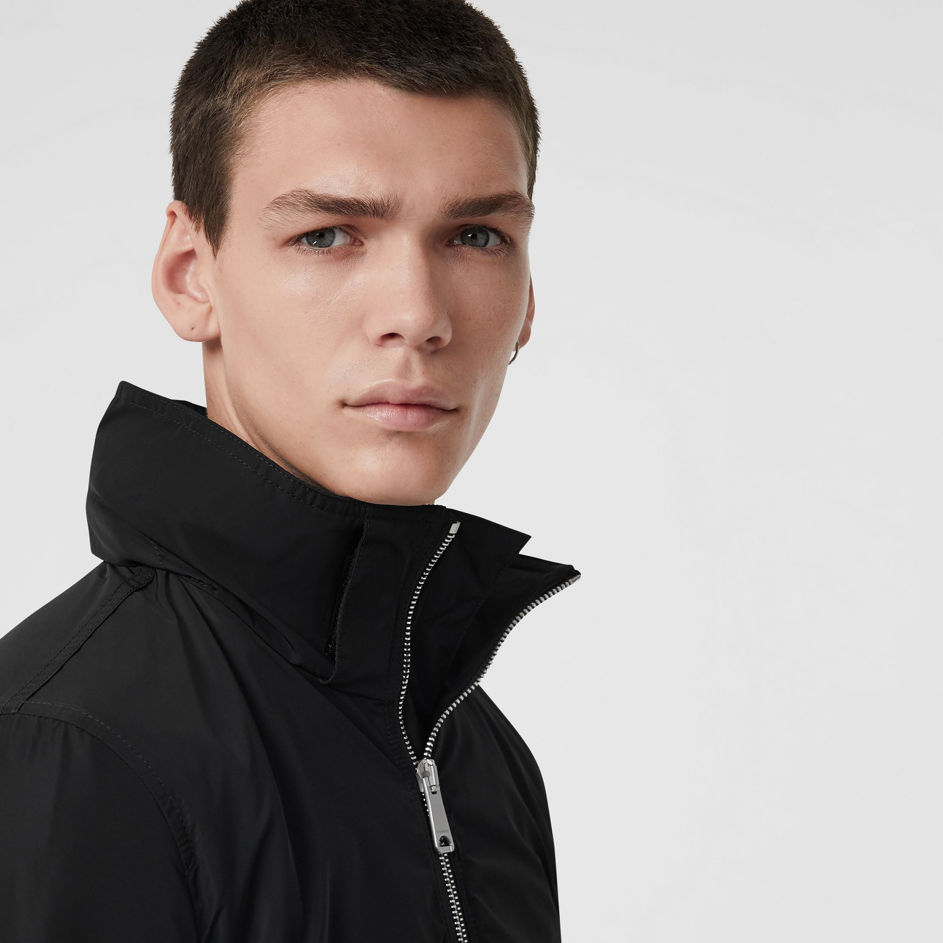 Packaway Hood Showerproof Jacket in Black - Men | Burberry Singapore - gallery image 4