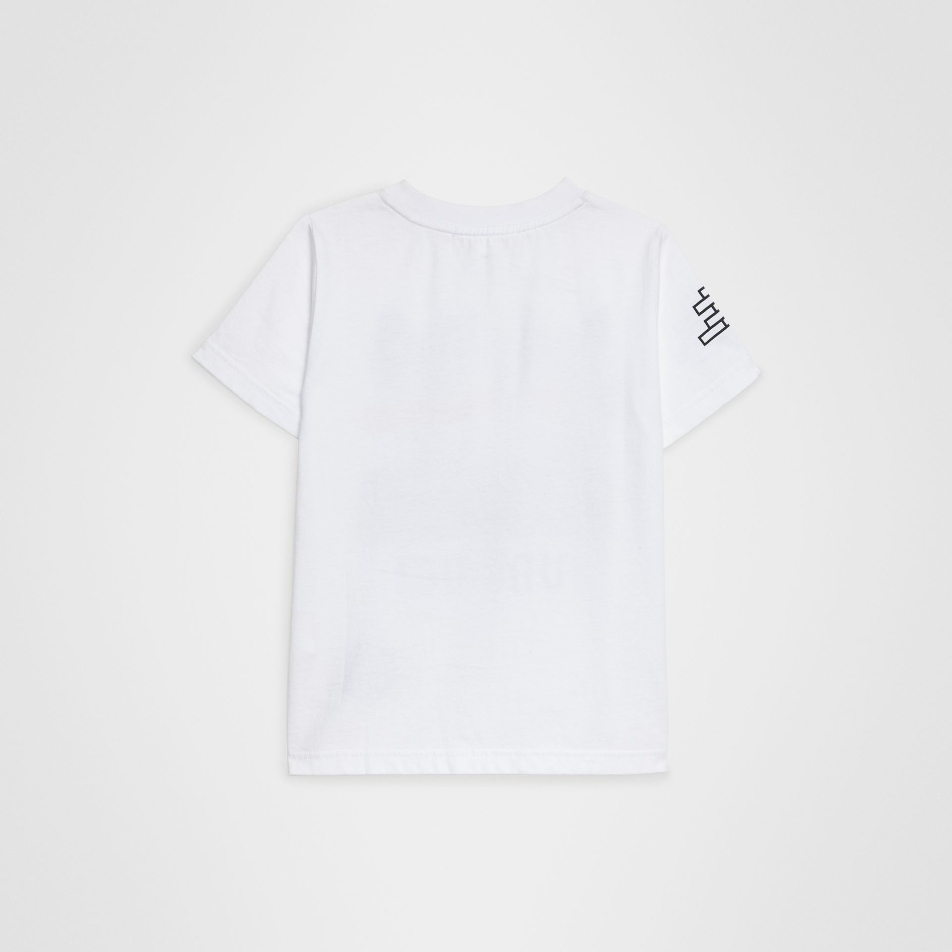 Fox Print Cotton T-shirt in White | Burberry Australia - gallery image 3