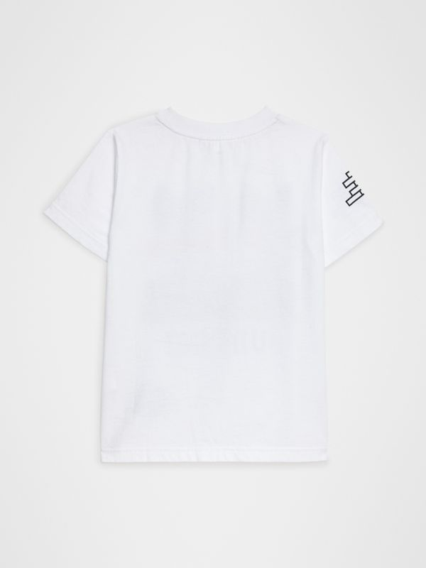 Fox Print Cotton T-shirt in White | Burberry Australia - cell image 3