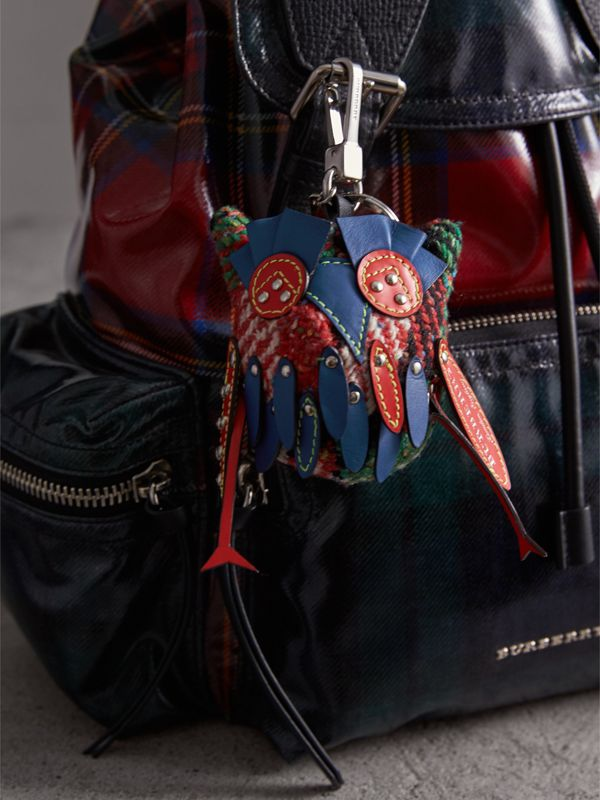 Mavis The Owl Wool Silk Blend Charm in Cornflower Blue | Burberry - cell image 2