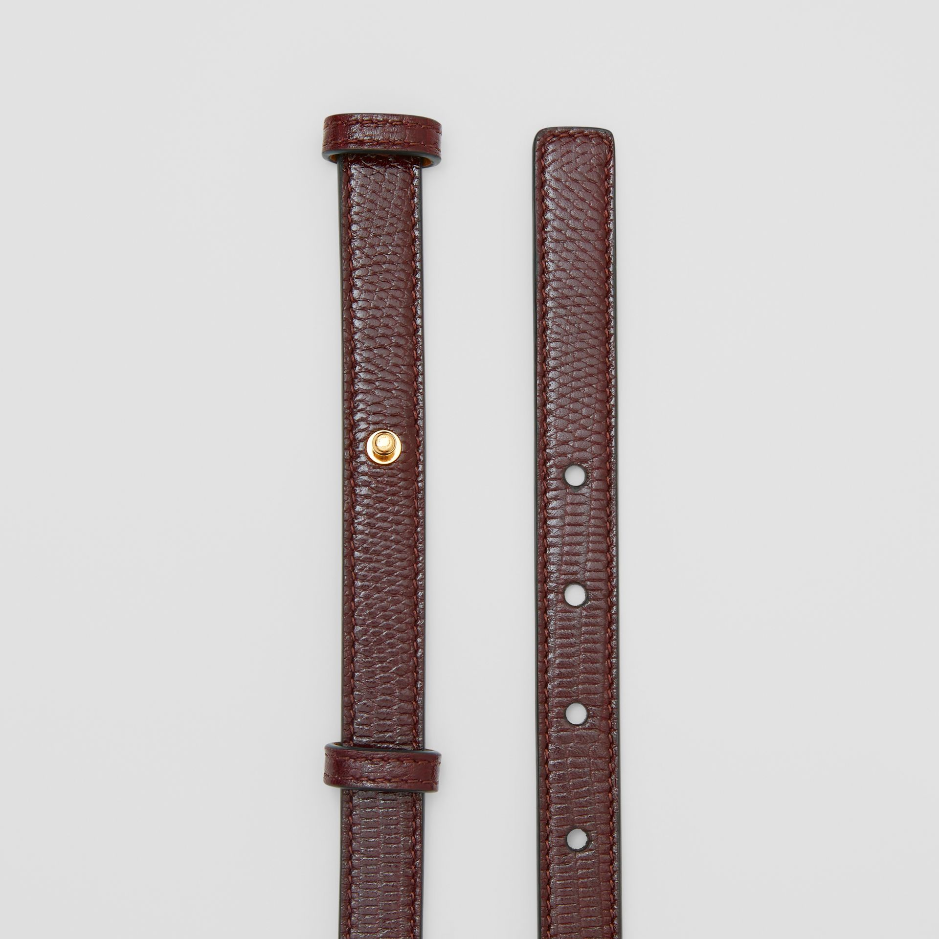 Faux Watch Detail Leather Belt in Tan - Women | Burberry - gallery image 5