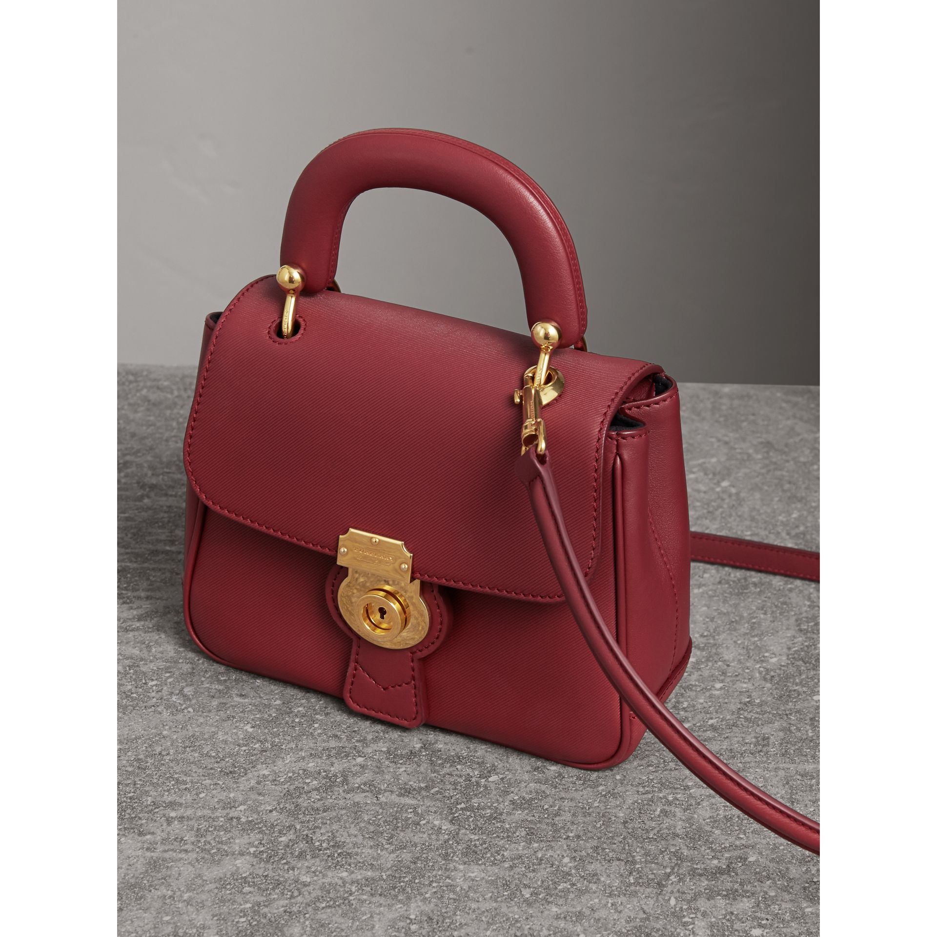 The Small DK88 Top Handle Bag in Antique Red - Women | Burberry - gallery image 7