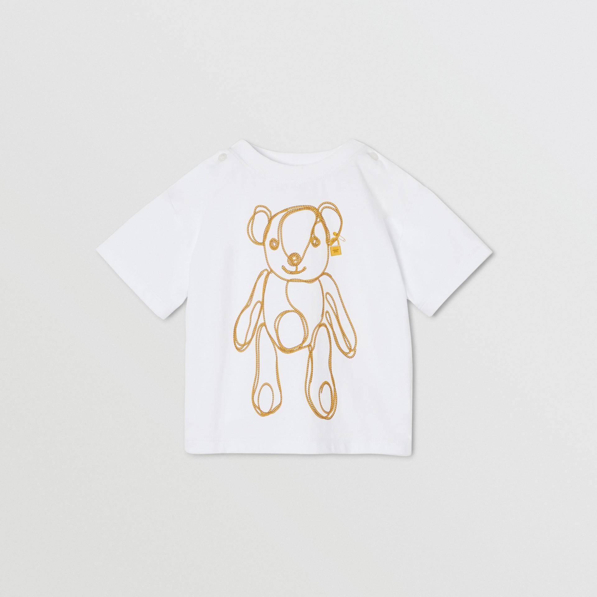 체인 프린트 코튼 티셔츠 (화이트) - 아동 | Burberry - 갤러리 이미지 0