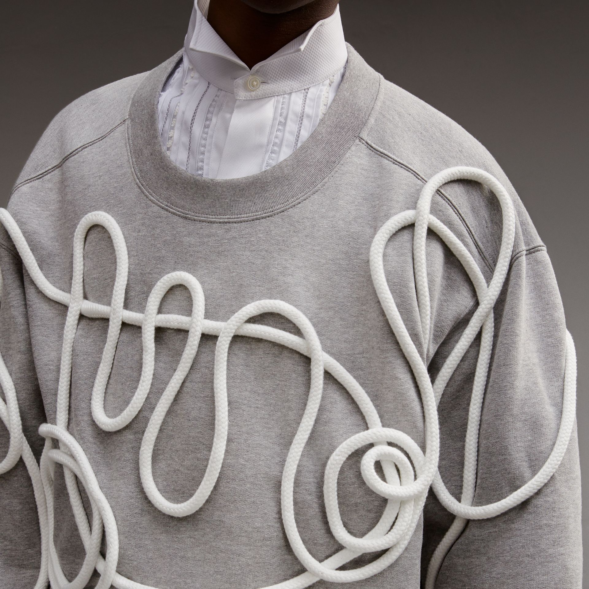 Unisex Rope Detail Sweatshirt - Men | Burberry - gallery image 6