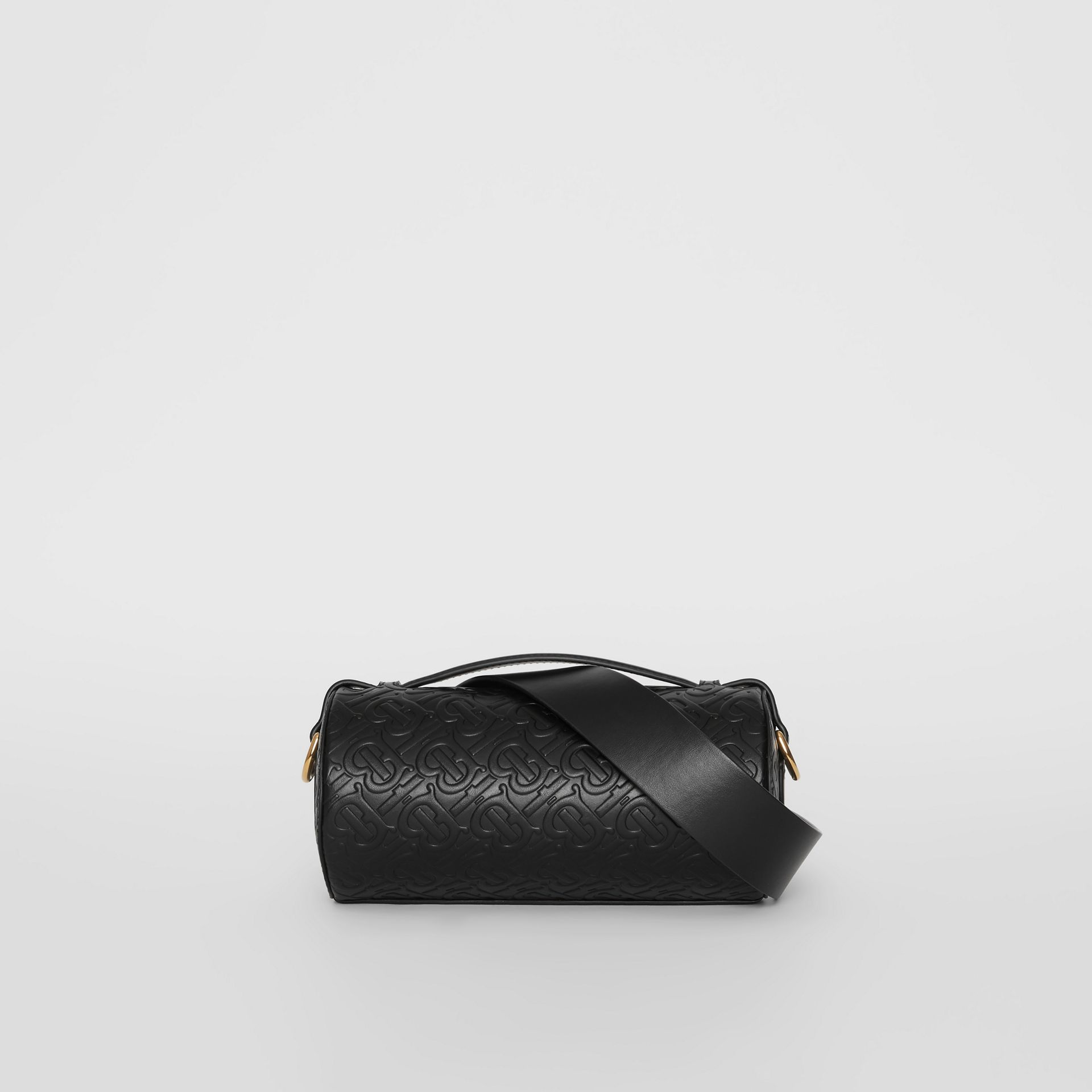 Sac The Barrel en cuir Monogram (Noir) - Femme | Burberry Canada - photo de la galerie 7
