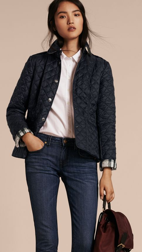 Ink Diamond Quilted Jacket Ink - Image 6