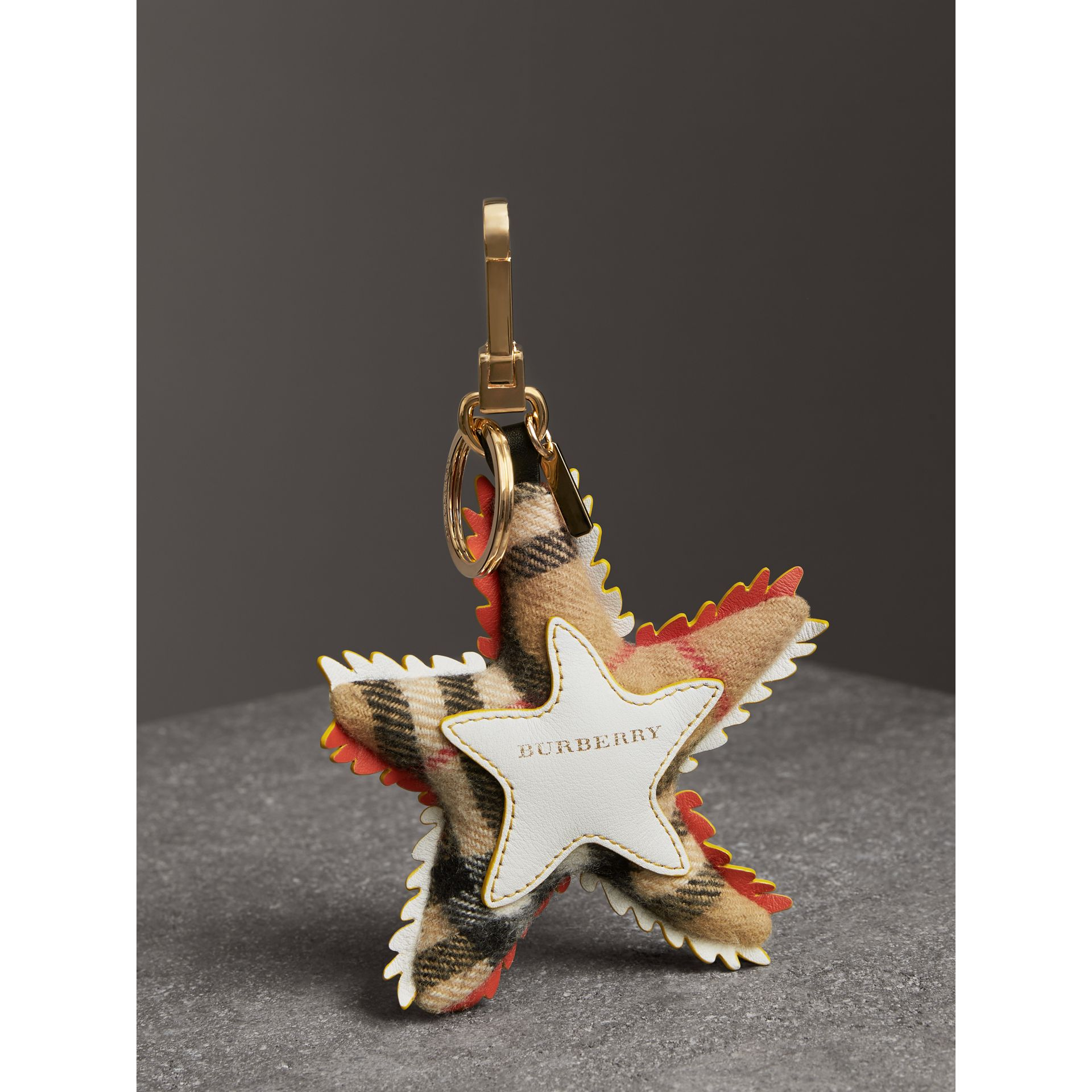 Phil the Starfish Cotton Charm in Orange/multicolour | Burberry - gallery image 3