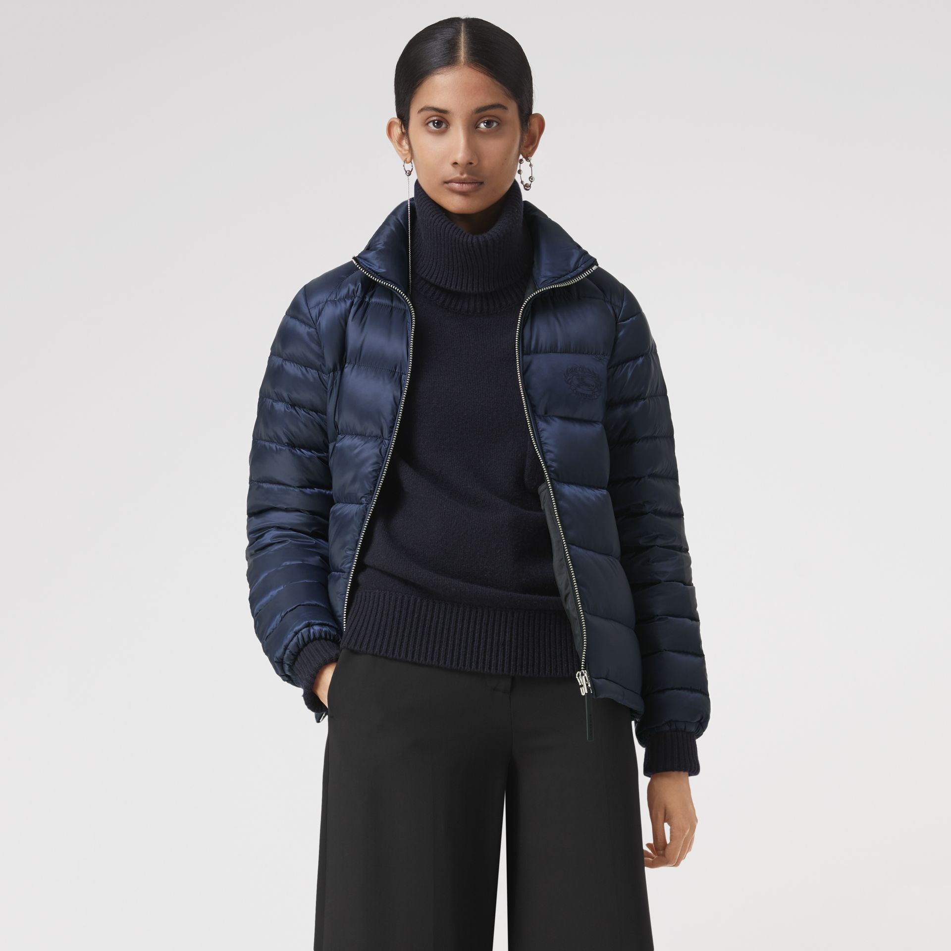 Down-filled Puffer Jacket in Navy - Women | Burberry - gallery image 0