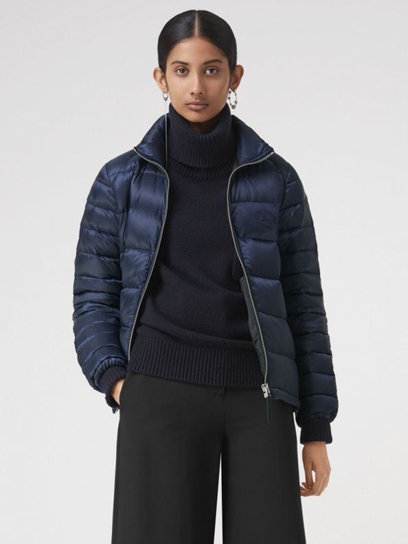 Down-filled Puffer Jacket in Navy