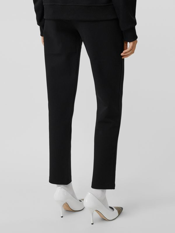 Monogram Motif Technical Trackpants in Black - Women | Burberry - cell image 2