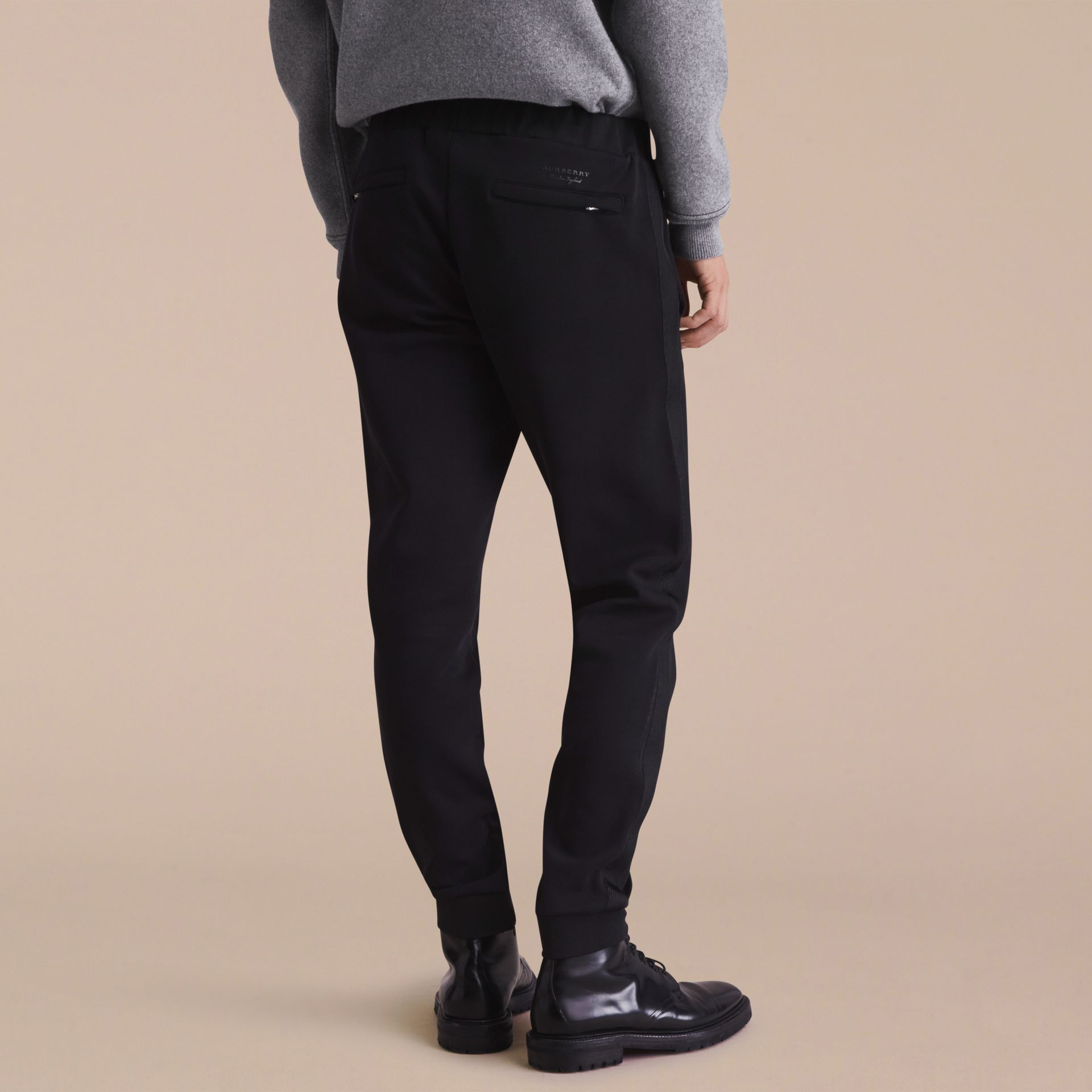 Cotton Blend Knit Sweat Pants - gallery image 3
