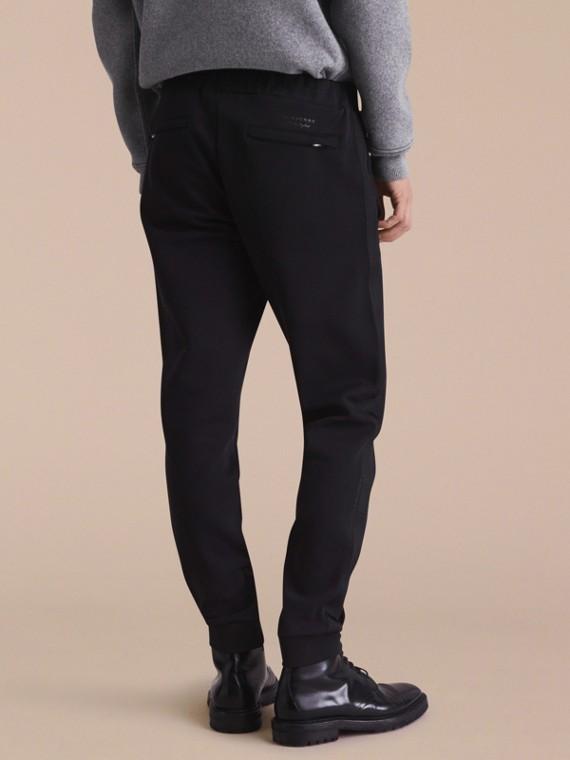 Cotton Blend Knit Sweatpants - cell image 2