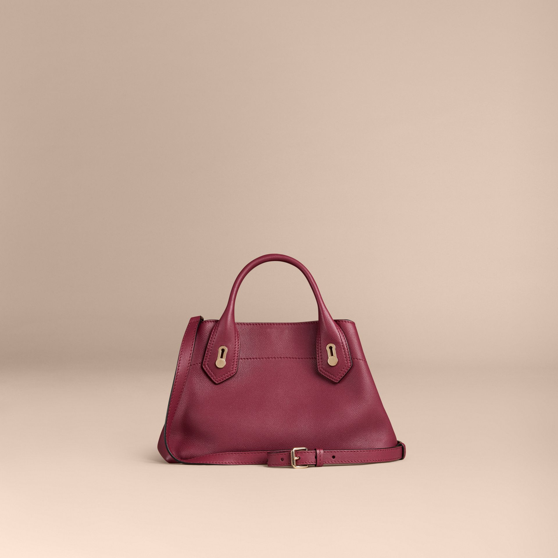 Dark plum The Small Milton in Grainy Leather Dark Plum - gallery image 4