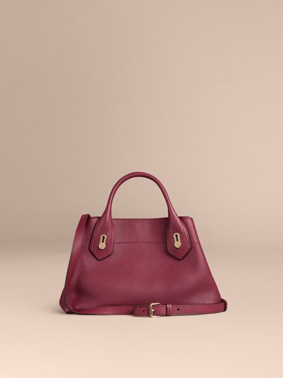 Dark plum The Small Milton in Grainy Leather Dark Plum - cell image 3