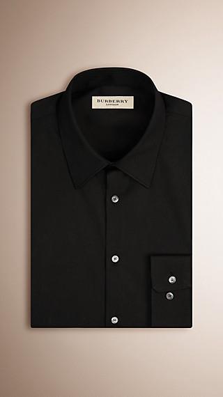 Slim Fit Stretch Cotton Shirt