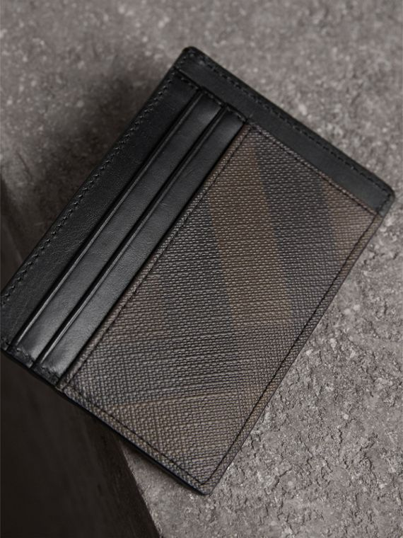 London Check Card Case in Chocolate/black | Burberry - cell image 2