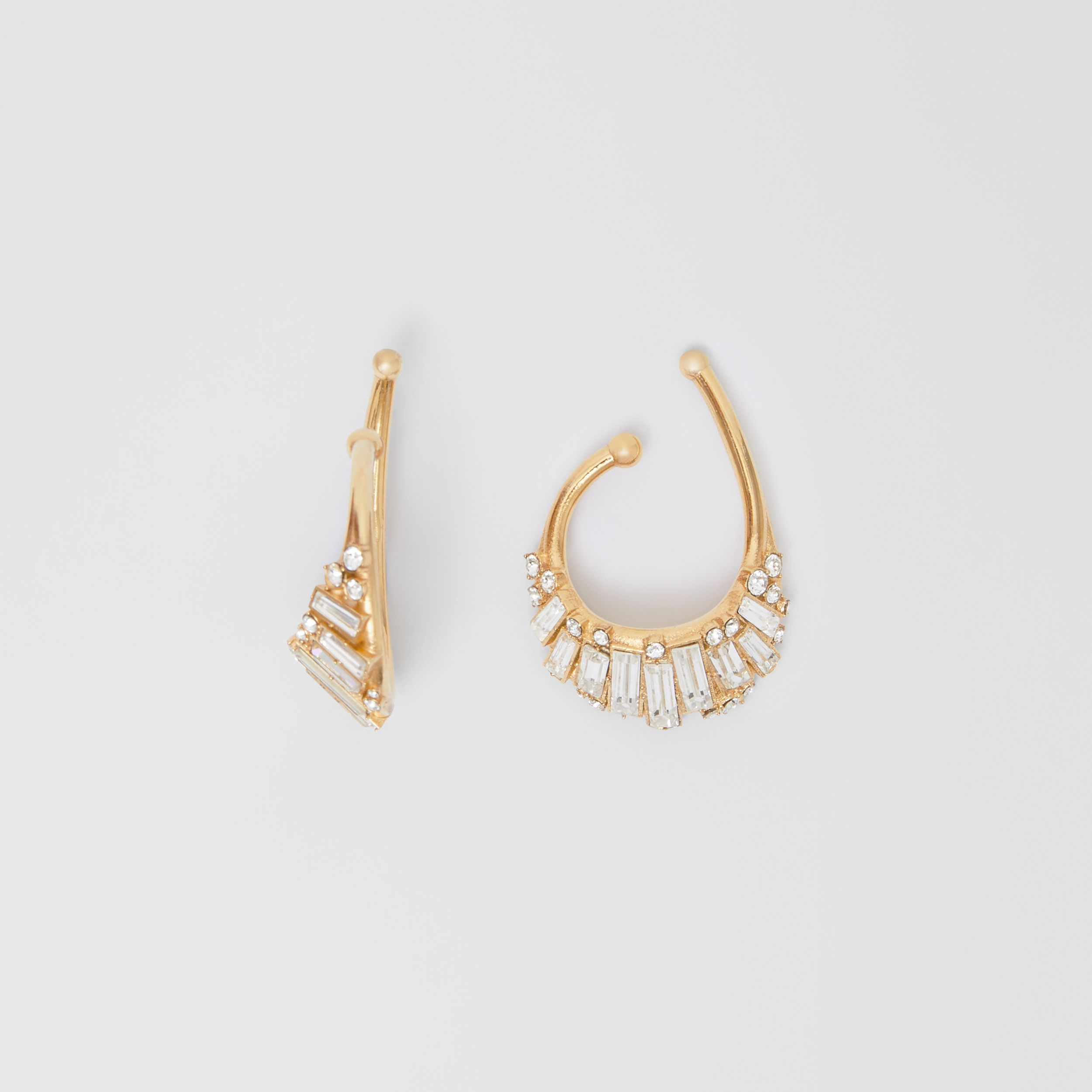 Crystal Gold-plated Ear Cuff in Light Gold/crystal - Women | Burberry - 4