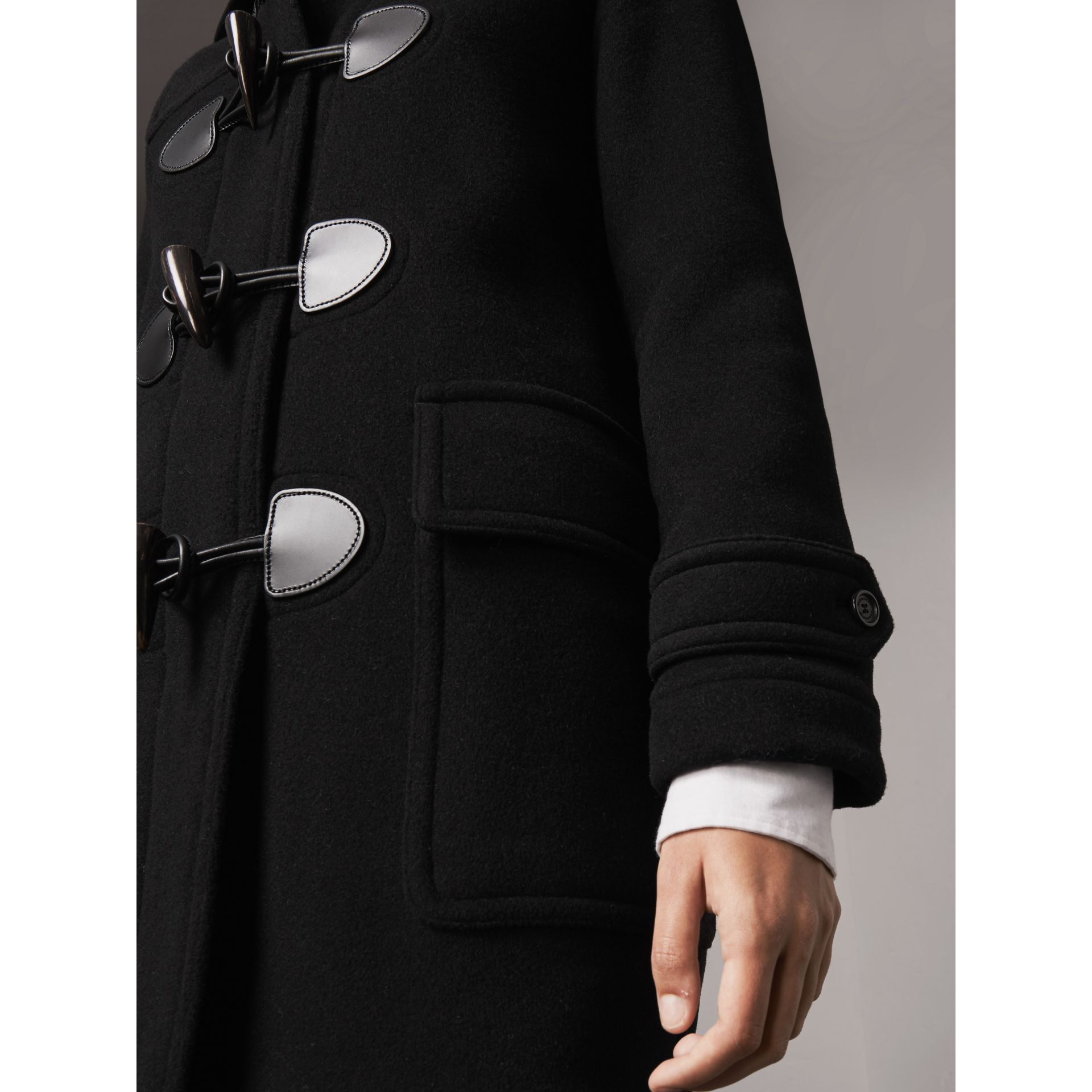 The Mersey Duffle Coat in Black - Women | Burberry - gallery image 2