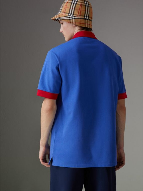 Reissued Cotton Polo Shirt in Cornflower Blue - Men | Burberry - cell image 2