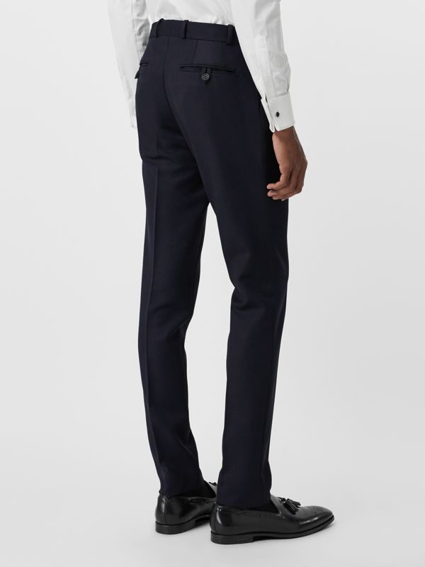 Slim Fit Wool Twill Tailored Trousers in Navy - Men | Burberry - cell image 2