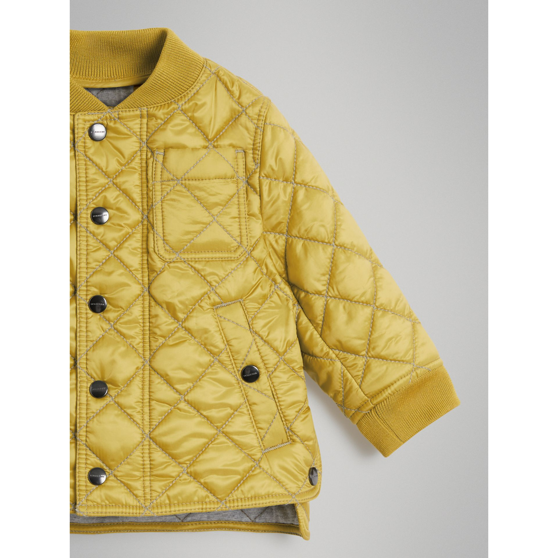 Lightweight Diamond Quilted Jacket in Saffron Yellow | Burberry - gallery image 4