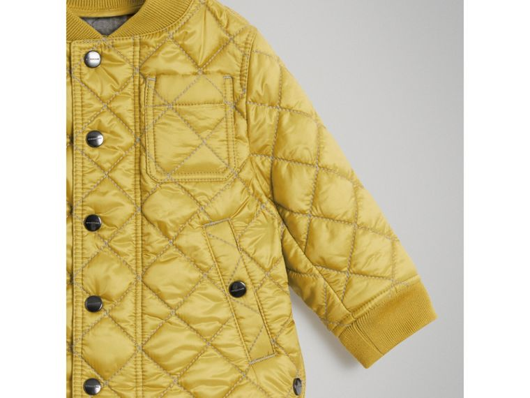 Lightweight Diamond Quilted Jacket in Saffron Yellow | Burberry - cell image 4