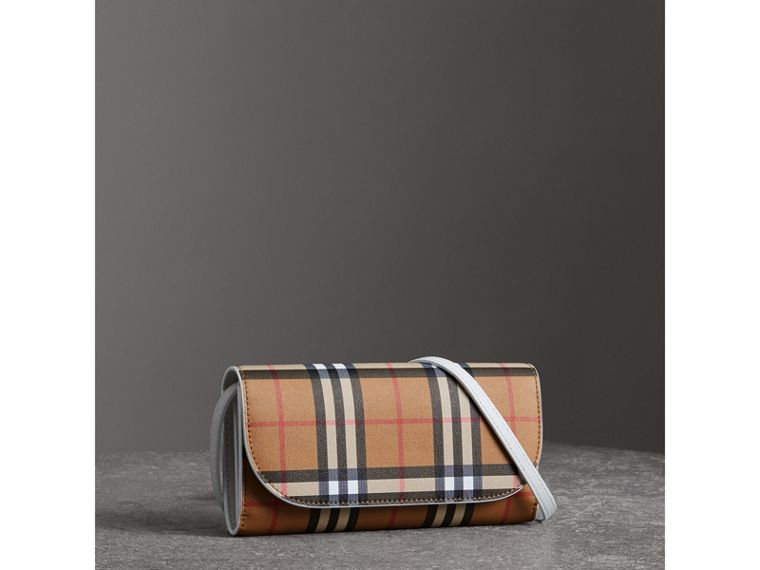 Detachable Strap Vintage Check Leather Wallet in Chalk White - Women | Burberry - cell image 4