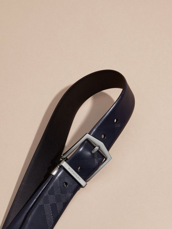 Reversible Leather Belt Dark Navy/black - cell image 3