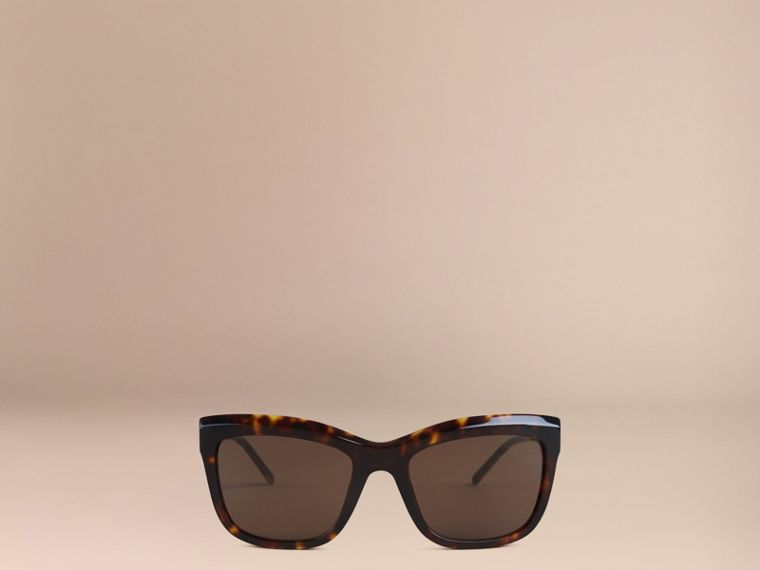 Tortoise shell Gabardine Lace Collection Square Frame Sunglasses Tortoise Shell - cell image 1