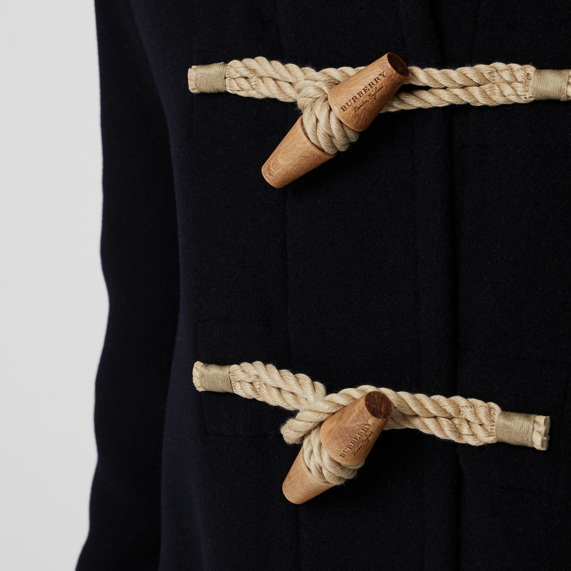 The Greenwich Duffle Coat in Navy - Men | Burberry Canada - gallery image 1