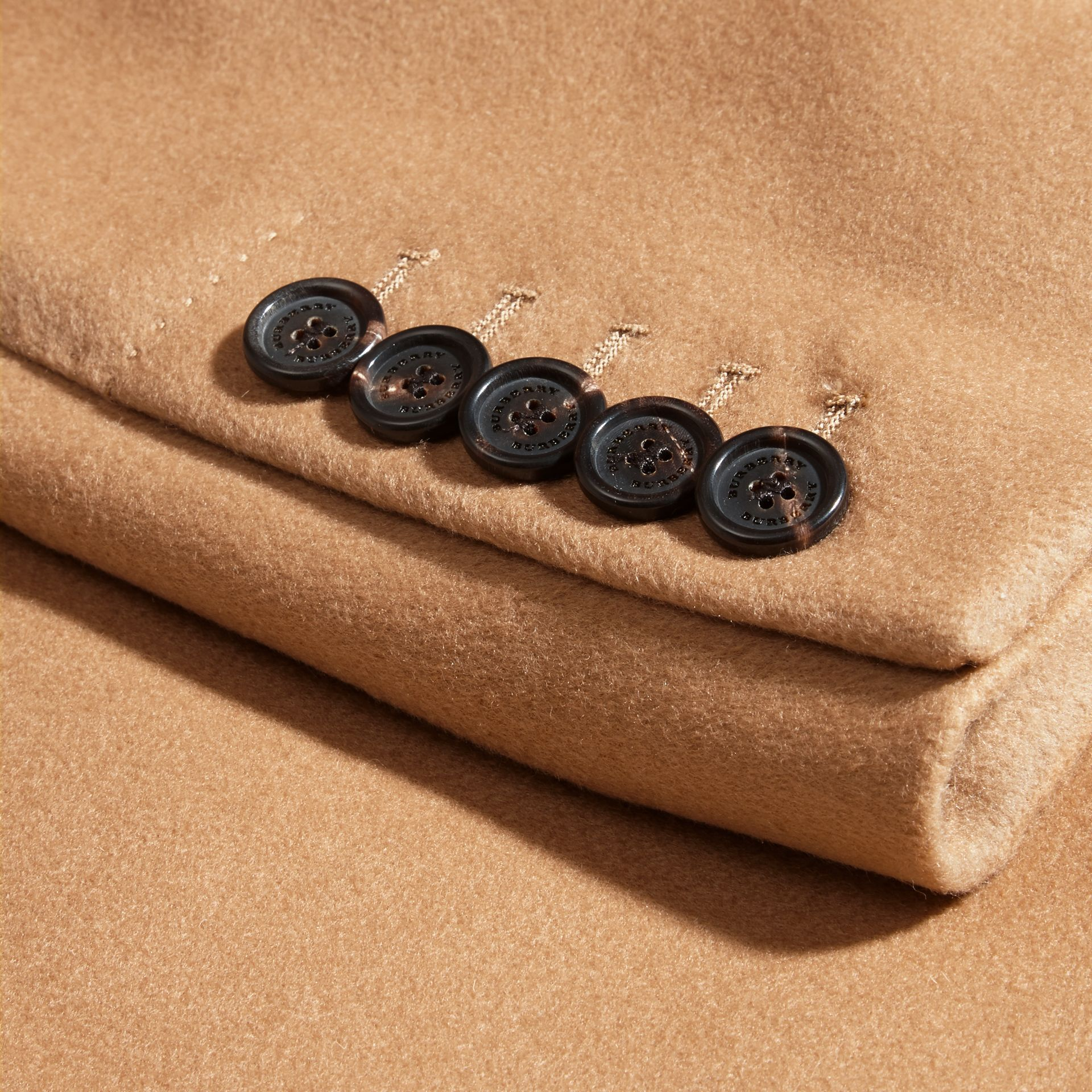 Camel Wool Cashmere Tailored Coat Camel - gallery image 2