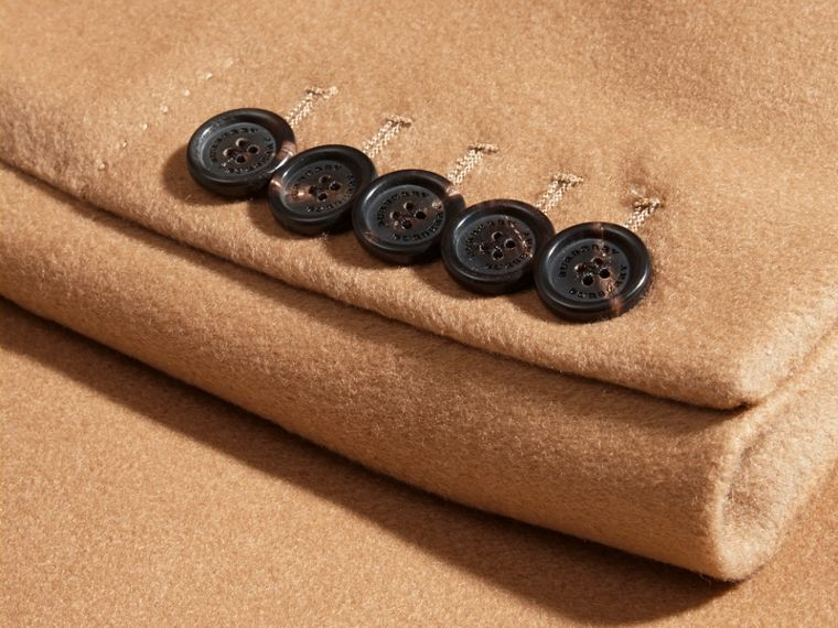 Camel Wool Cashmere Tailored Coat Camel - cell image 1