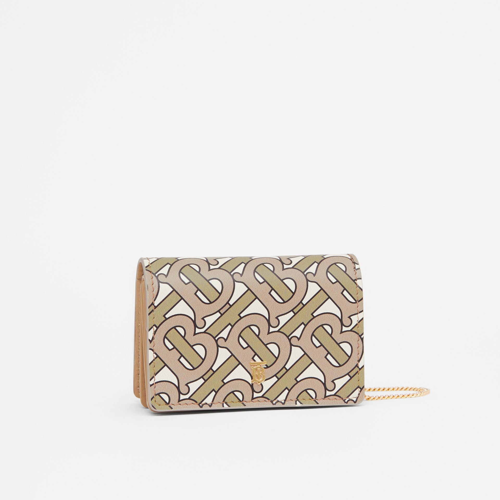 Monogram Print Card Case with Detachable Strap in Beige - Women | Burberry Singapore - gallery image 6