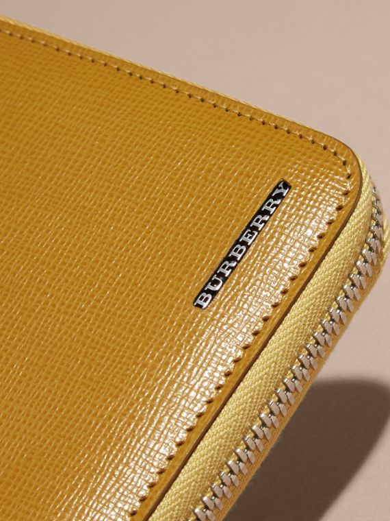 London Leather Ziparound Wallet in Larch Yellow - cell image 2