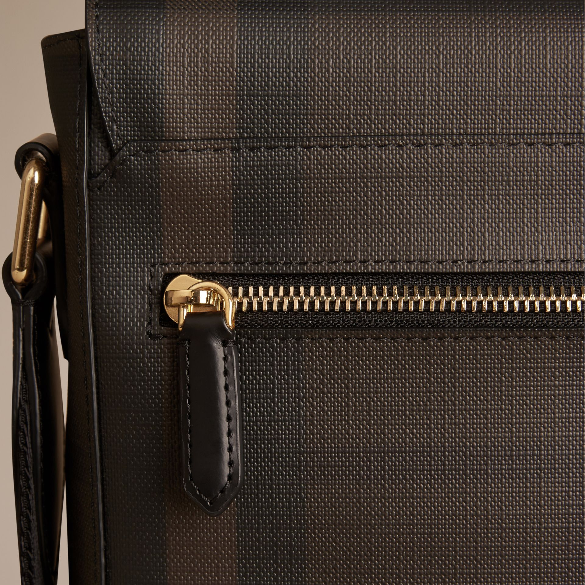 London Check Crossbody Bag in Chocolate/black - gallery image 2
