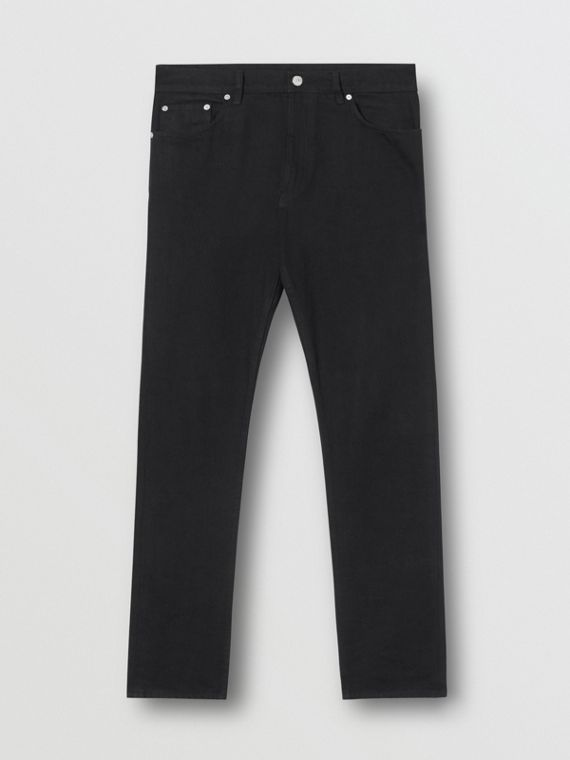 Slim Fit Japanese Denim Jeans in Black