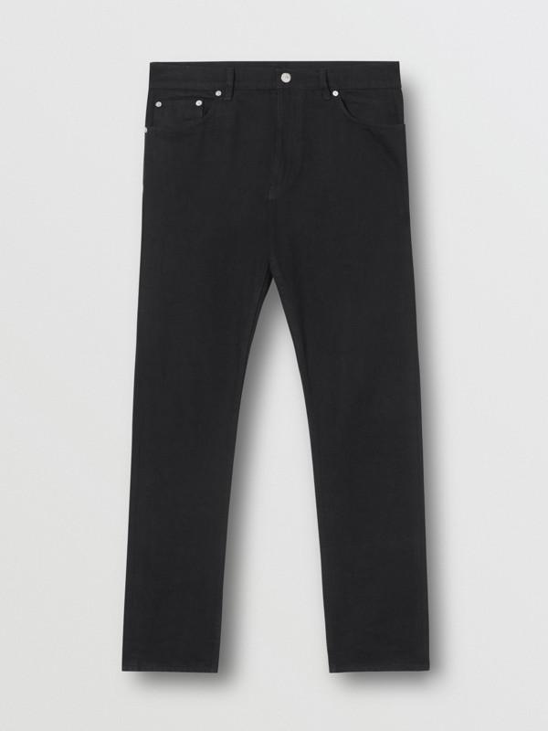 Slim Fit Japanese Denim Jeans in Black - Men | Burberry - cell image 3