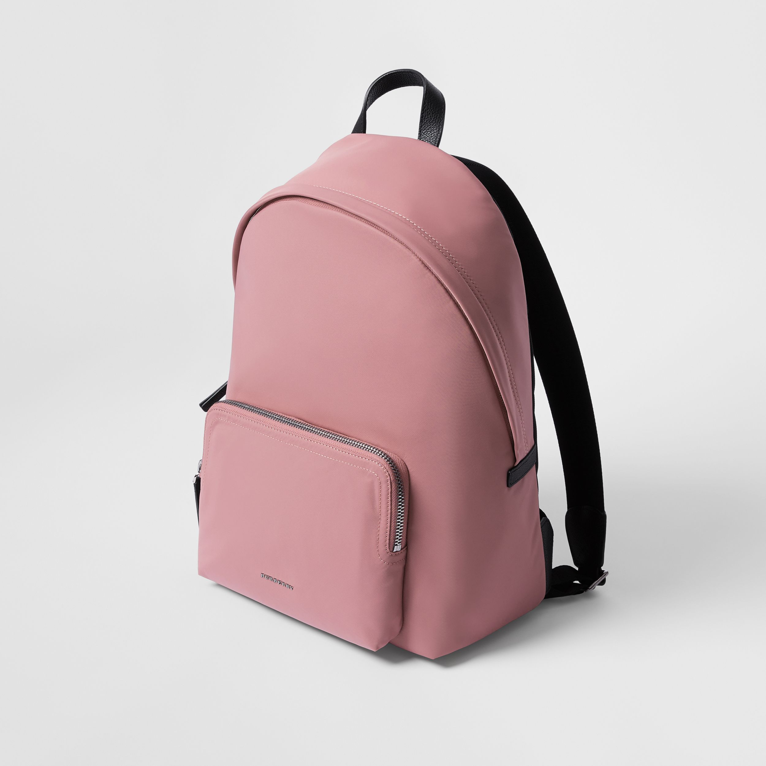 Logo Detail Backpack in Mauve Pink | Burberry - 3