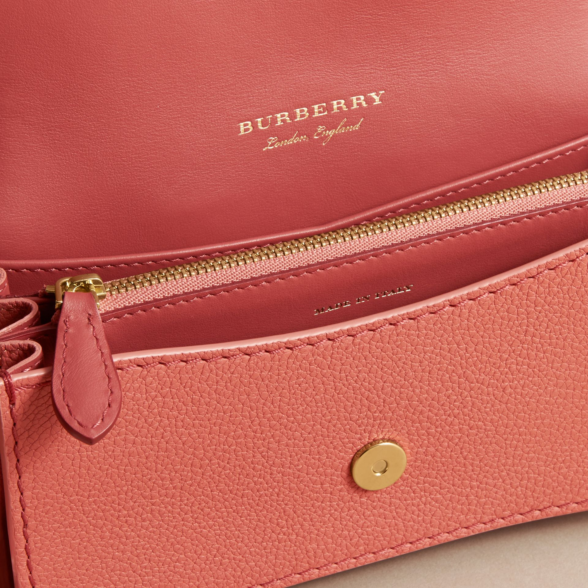 The Patchwork in Grainy Leather and Snakeskin in Pink - Women | Burberry - gallery image 4