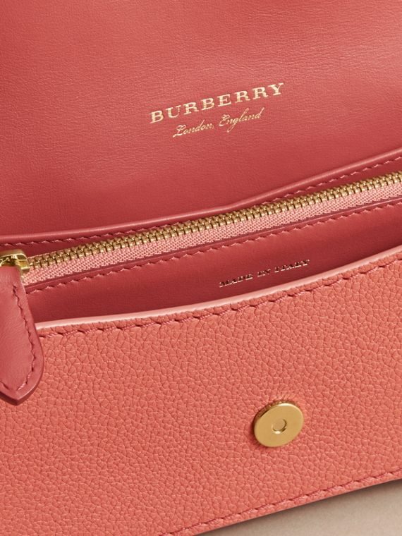 The Patchwork in Grainy Leather and Snakeskin in Pink - Women | Burberry - cell image 3